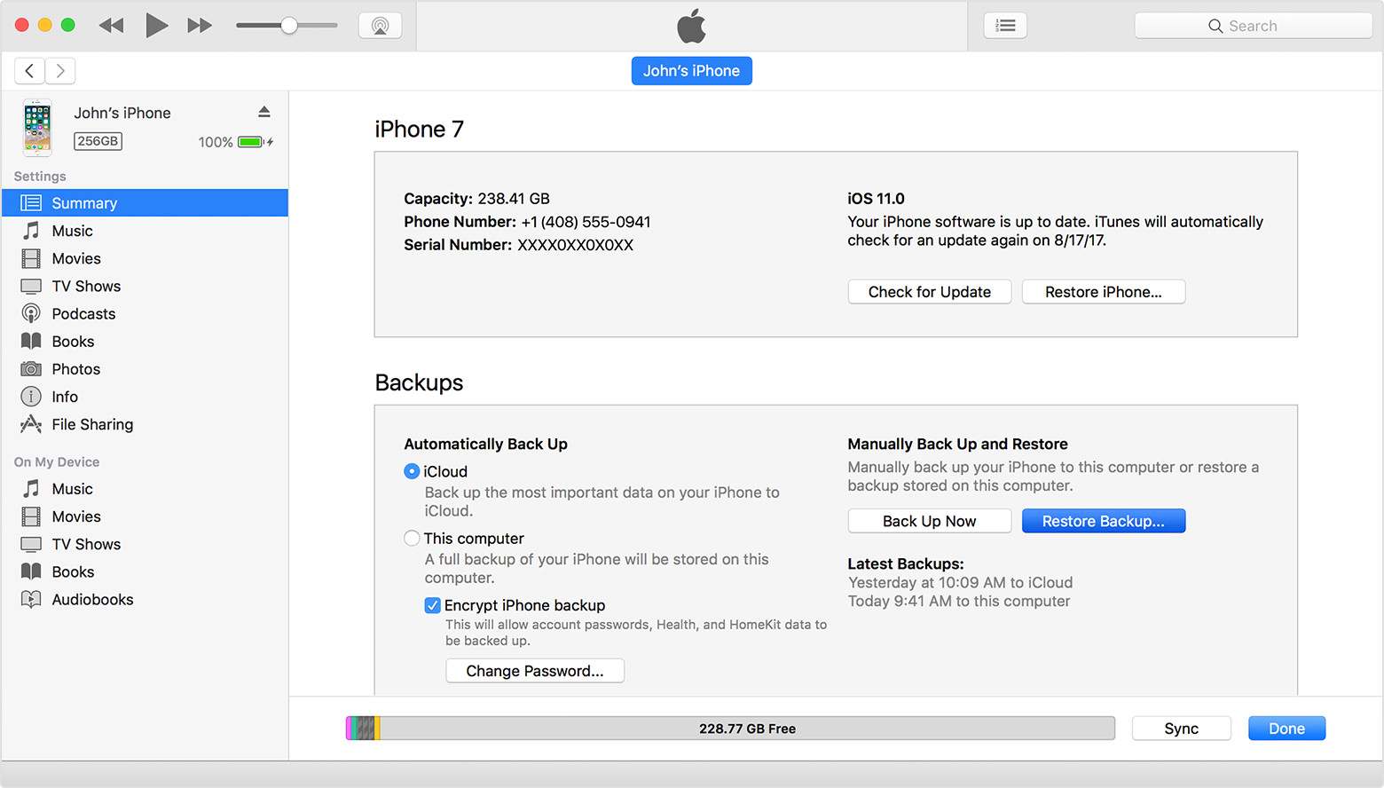 Restore iOS From iTunes Backup