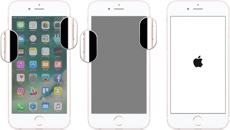 force restart iPhone 7/7 Plus
