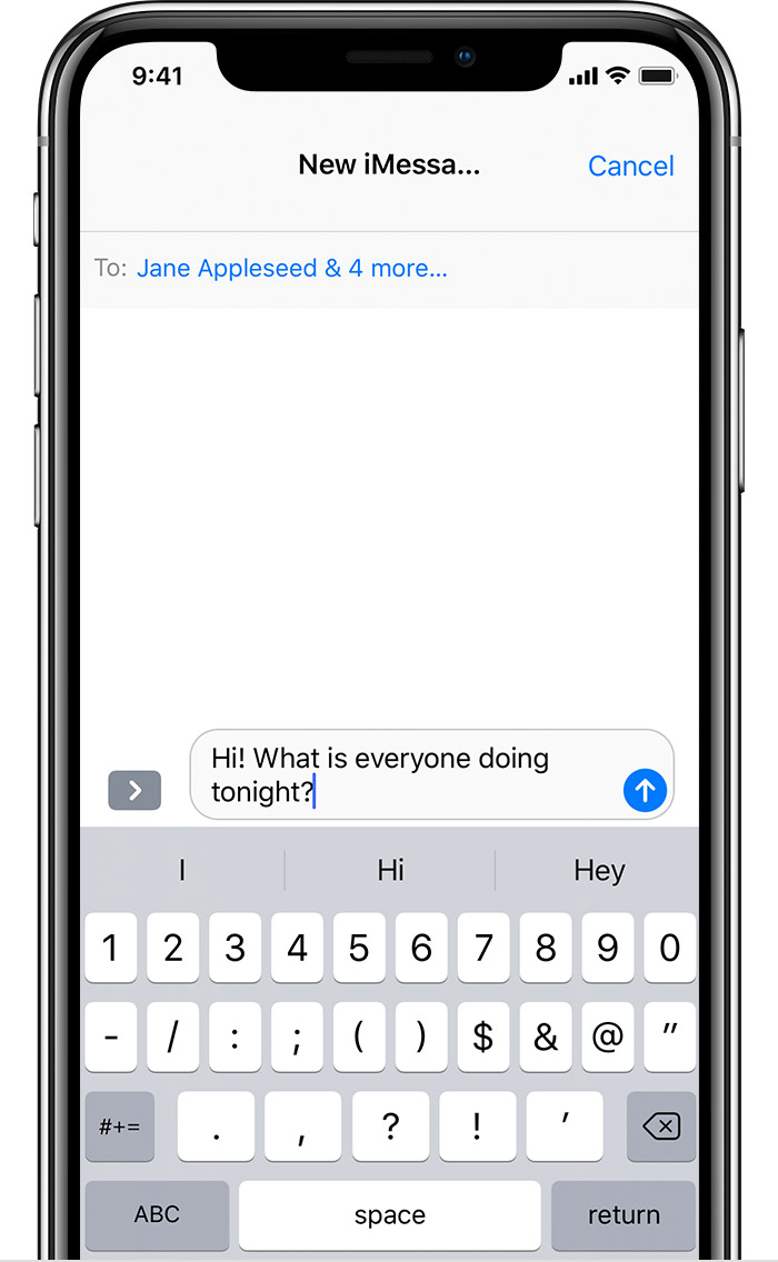 how to send group text messages from iphone
