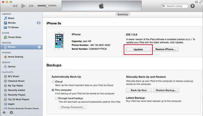 install iOS 8 on iPod