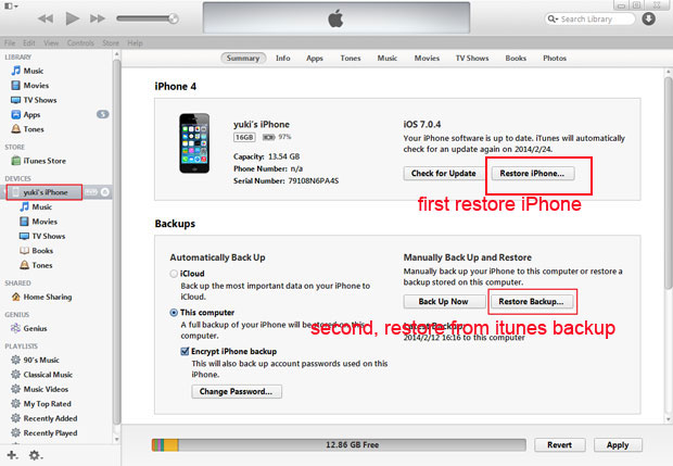 Iphone Restore Backup Password