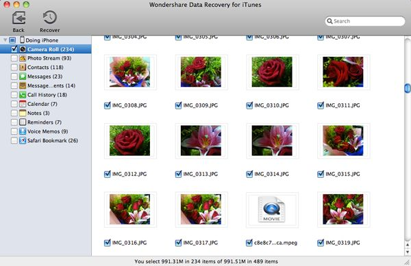 itunes data recovery2