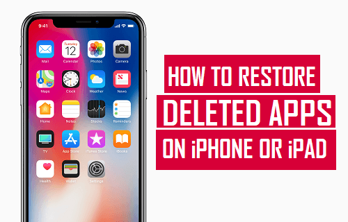 Restore Deleted Apps on iPhone or iPad