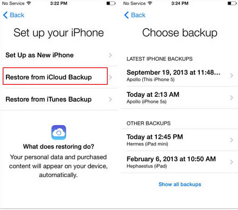 how to get info from old iphone to new iphone