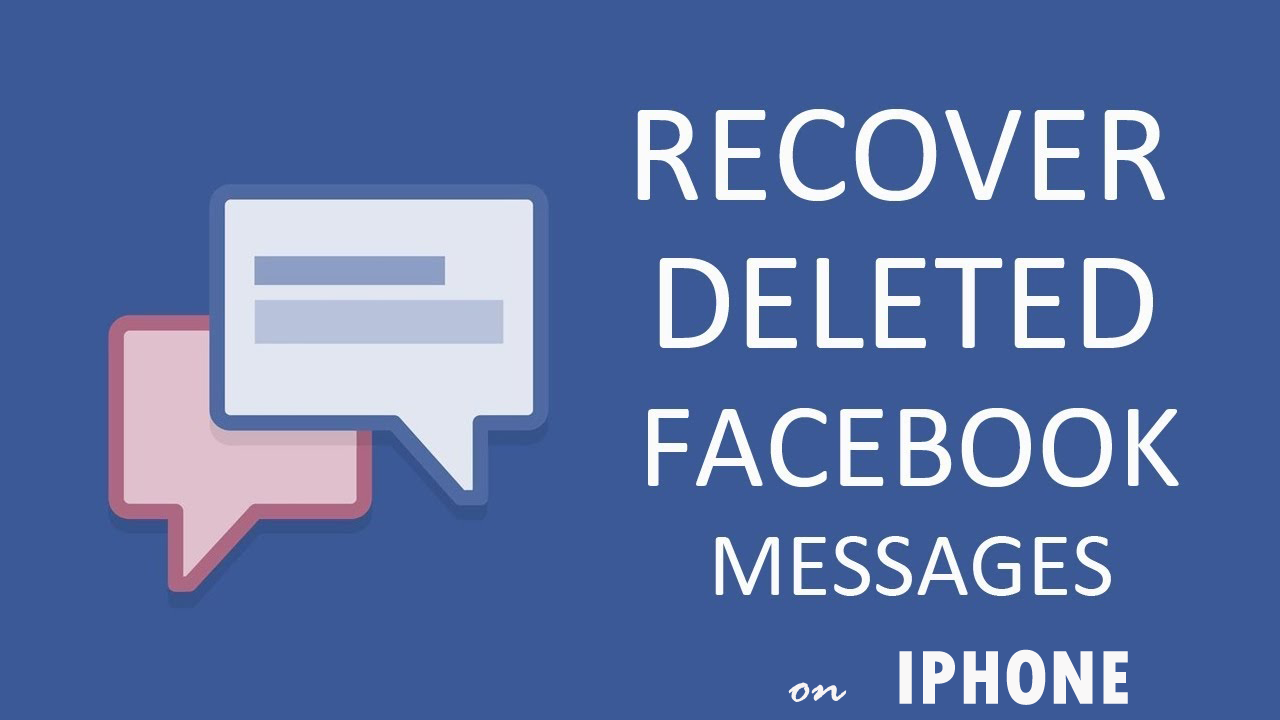 How To Recover Deleted Facebook Messenger Messages On iPhone on Windows/Mac