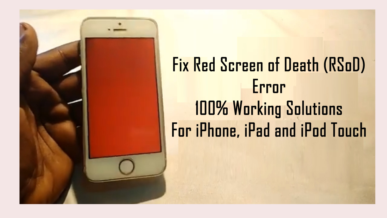 Fix iPhone Stuck at Red Screen