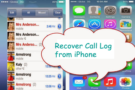 restore lost call logs