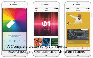 view Text Messages on iTunes