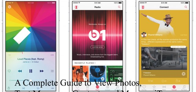 A Complete Guide to View Photos, Text Messages, Contacts and More on iTunes