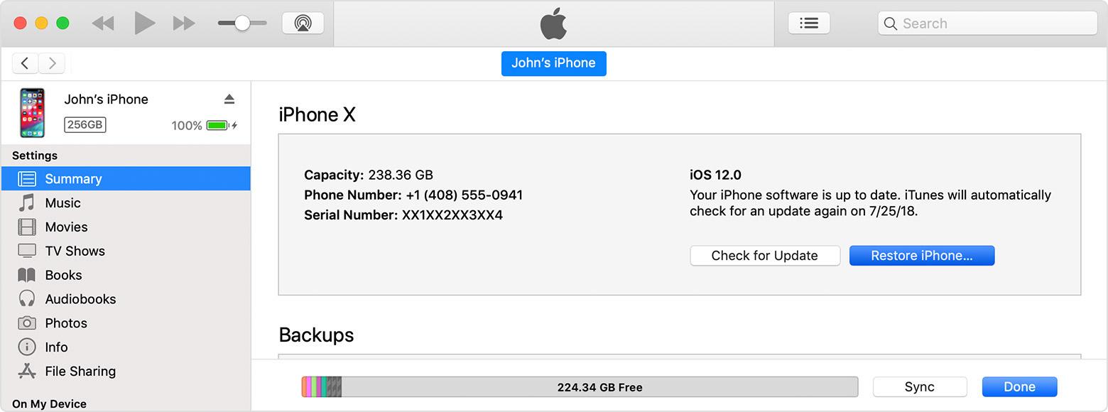 Unlock Passcode Locked iPhone with iTunes