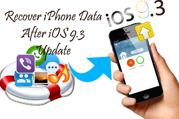 iOS 9.3 Data Recovery- Recover lost iPhone Data After iOS 9.3 Update