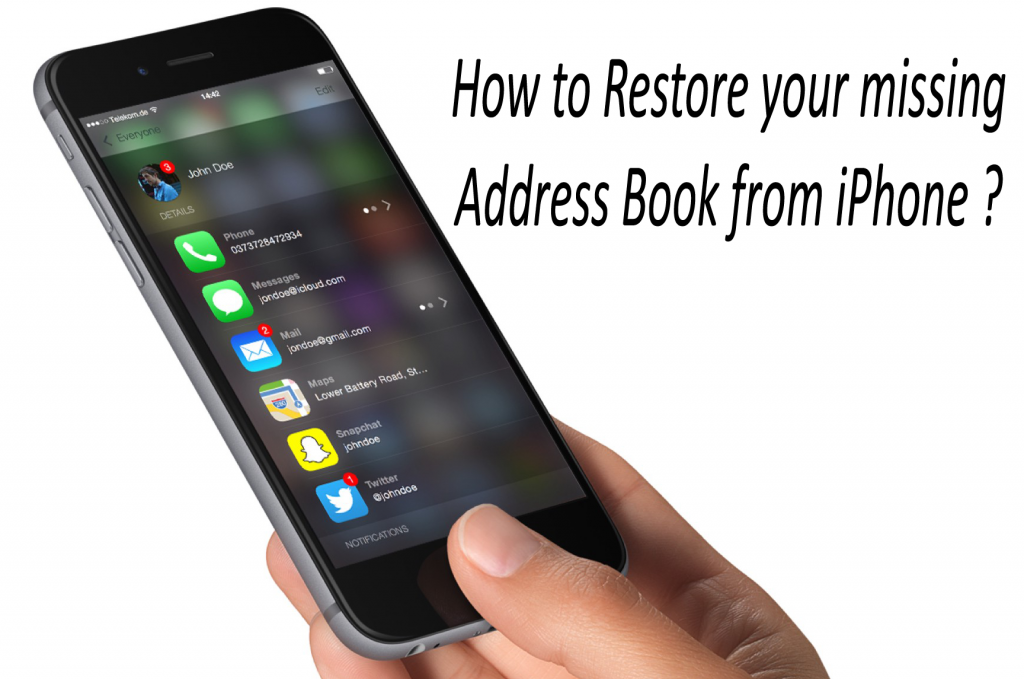 How to Restore your missing Address Book from iPhone