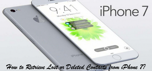How to Rescue Deleted Contacts from iPhone 7?