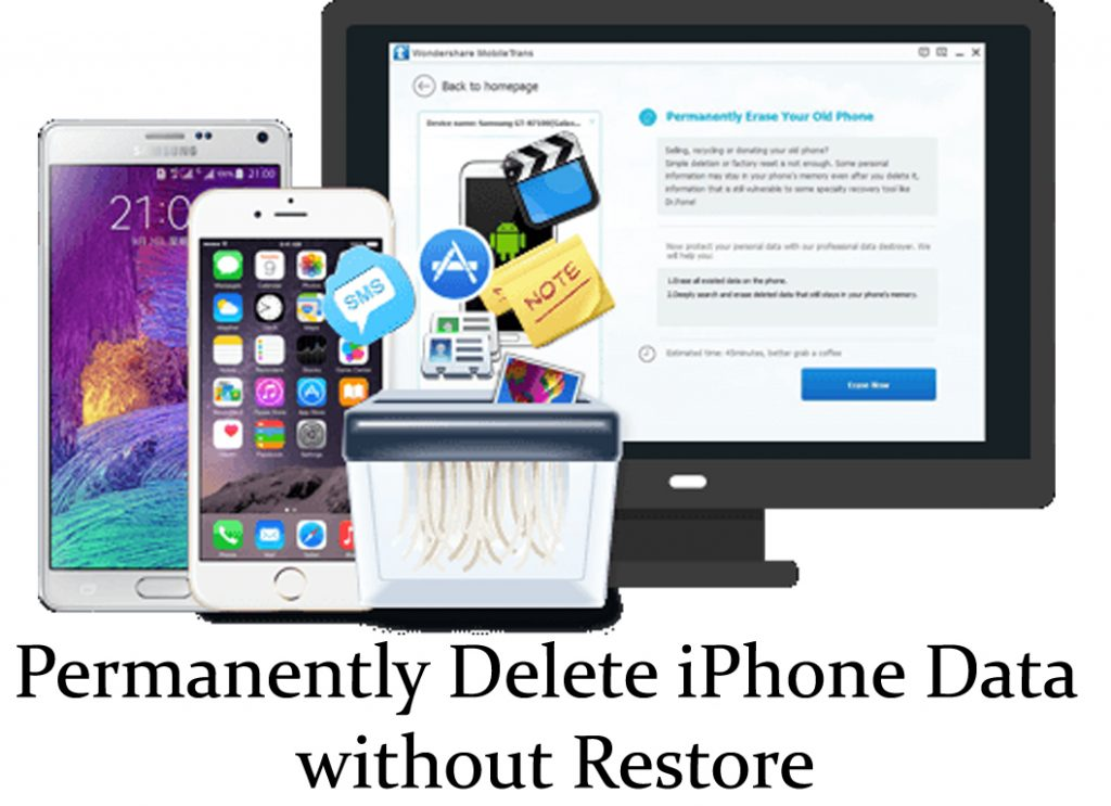 erase data from iPhone without restore