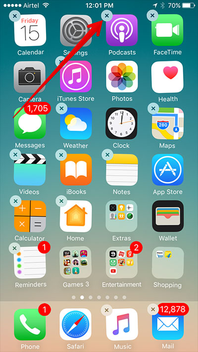 tap-on-cross-icon-on-iphone