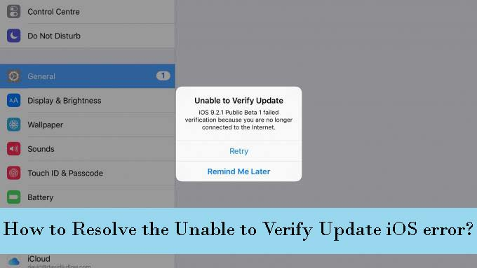 Fix Unable to Verify Error