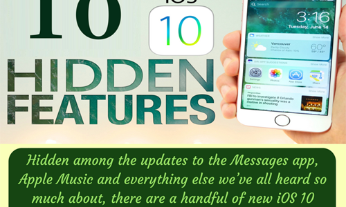[Infographic] 10 Best iOS 10 Features