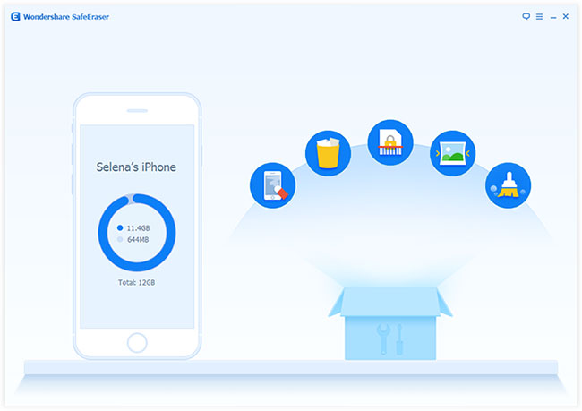 Launch iPhone Data Eraser