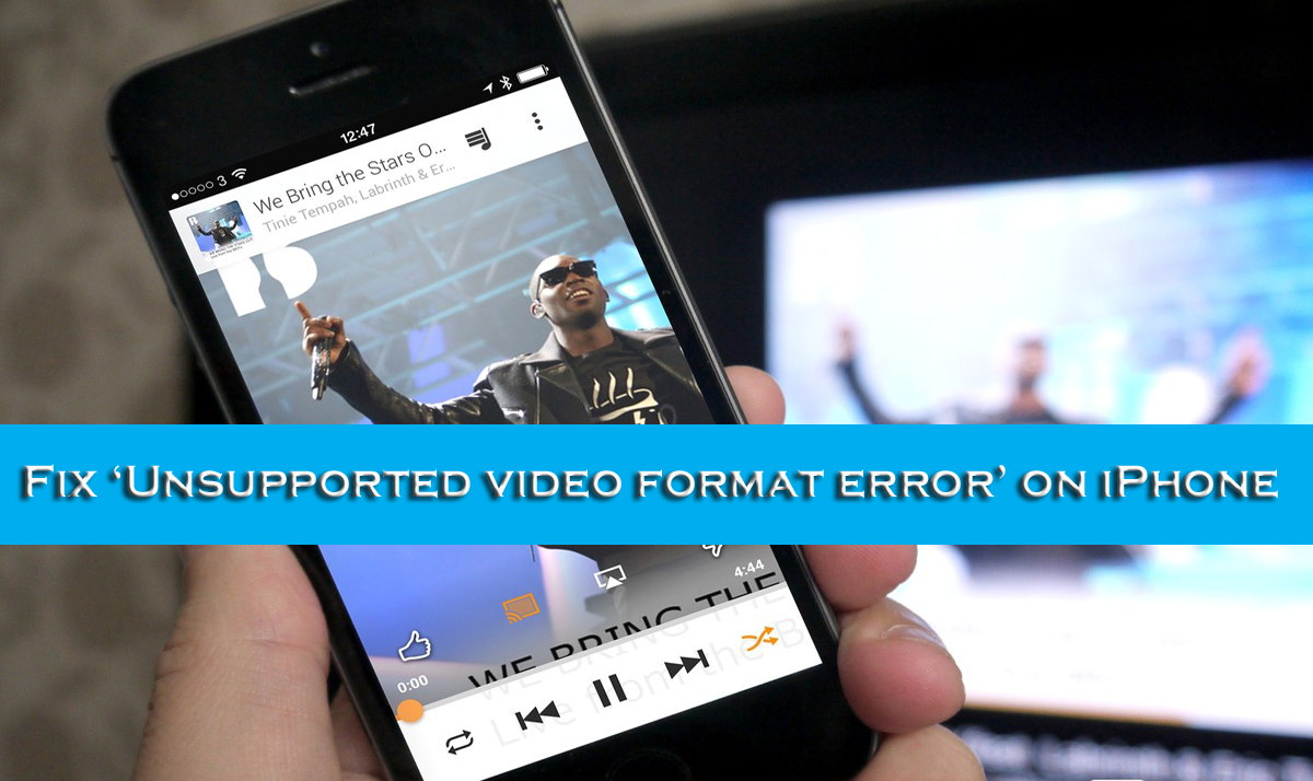 "Fix ""Unsupported Video Format Error"""