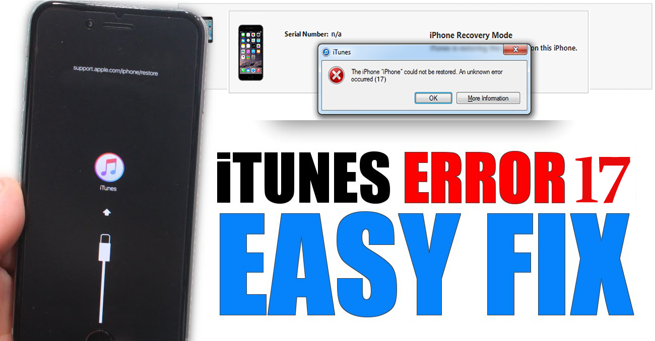"[Fixed]: ""iTunes Error 17"" While Upgrading iPhone/iPad/iPod Touch"