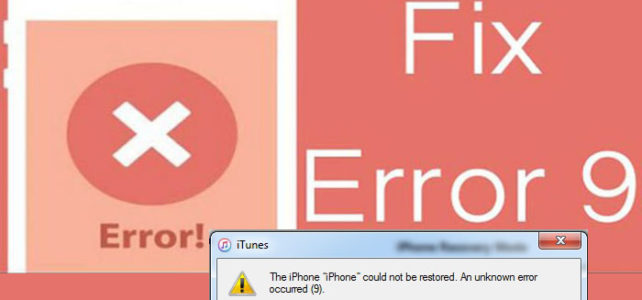 "8 Solutions To Fix ""iTunes Error 9"" on iPhone/iPad! 8th Solutions Work Great."