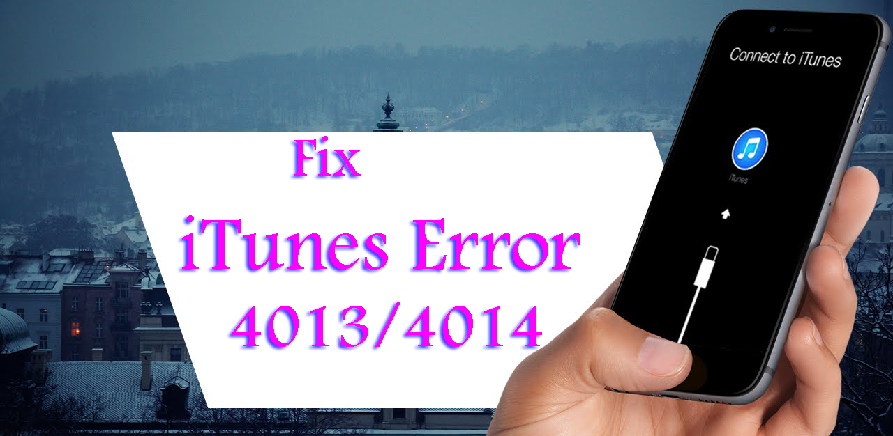 Fix iTune error 4013