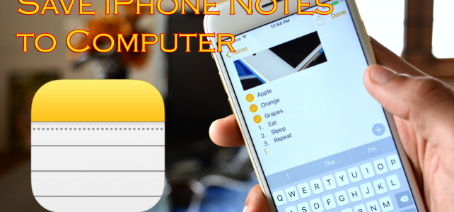 how to read notes on phone on the computer