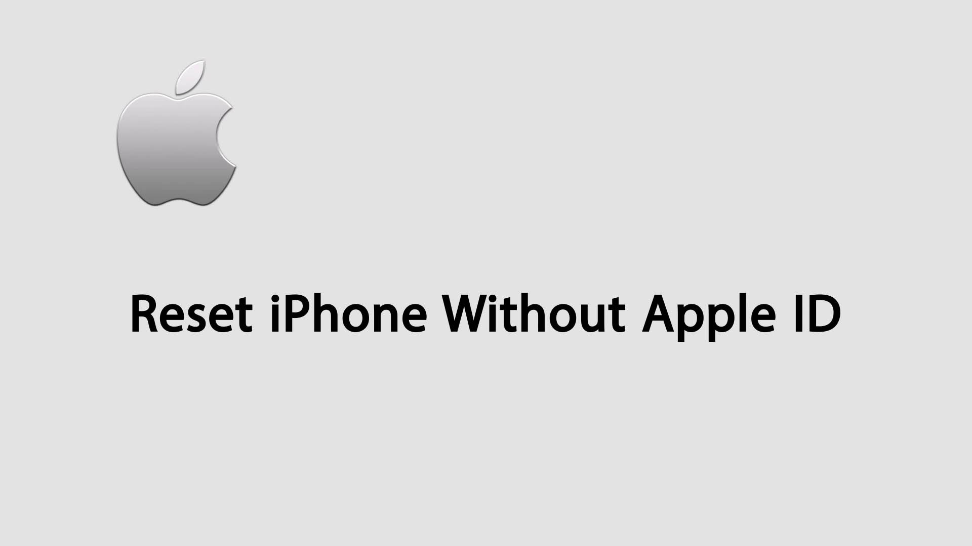 Reset your iPhone Without Apple ID
