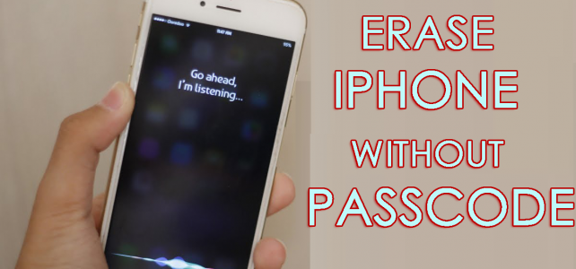 How To Erase iPhone/iPad/iPod Touch Data Without Passcode