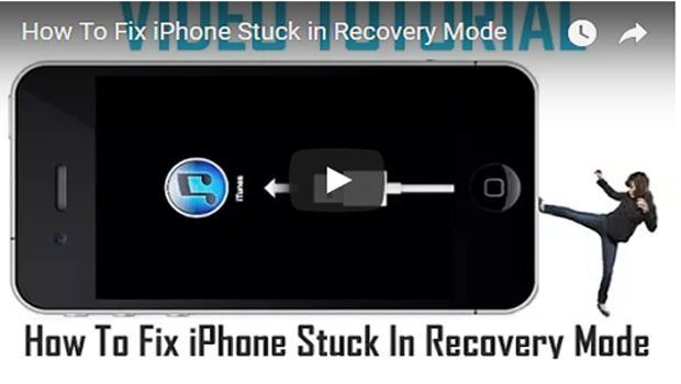 How To Fix iPhone Stuck In Recovery Mode [Video Tutorial]