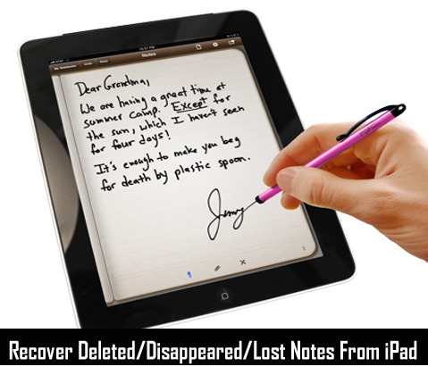 Recover Deleted Notes on iPad