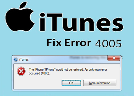 Solved iTunes Error 4005