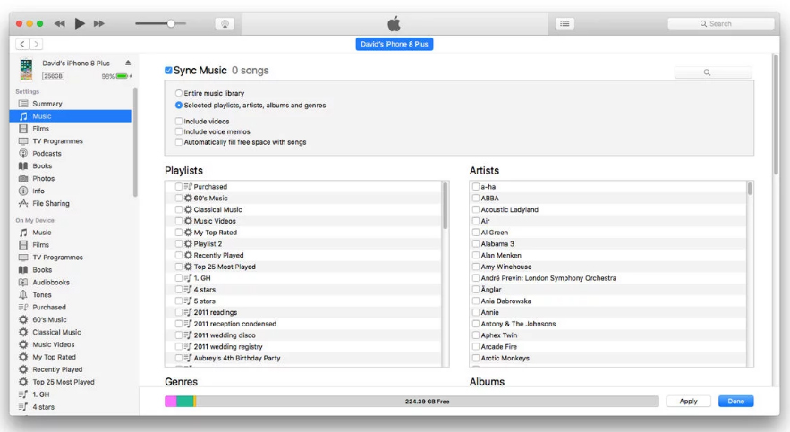 Recover Deleted Playlists From iPhone via iTunes