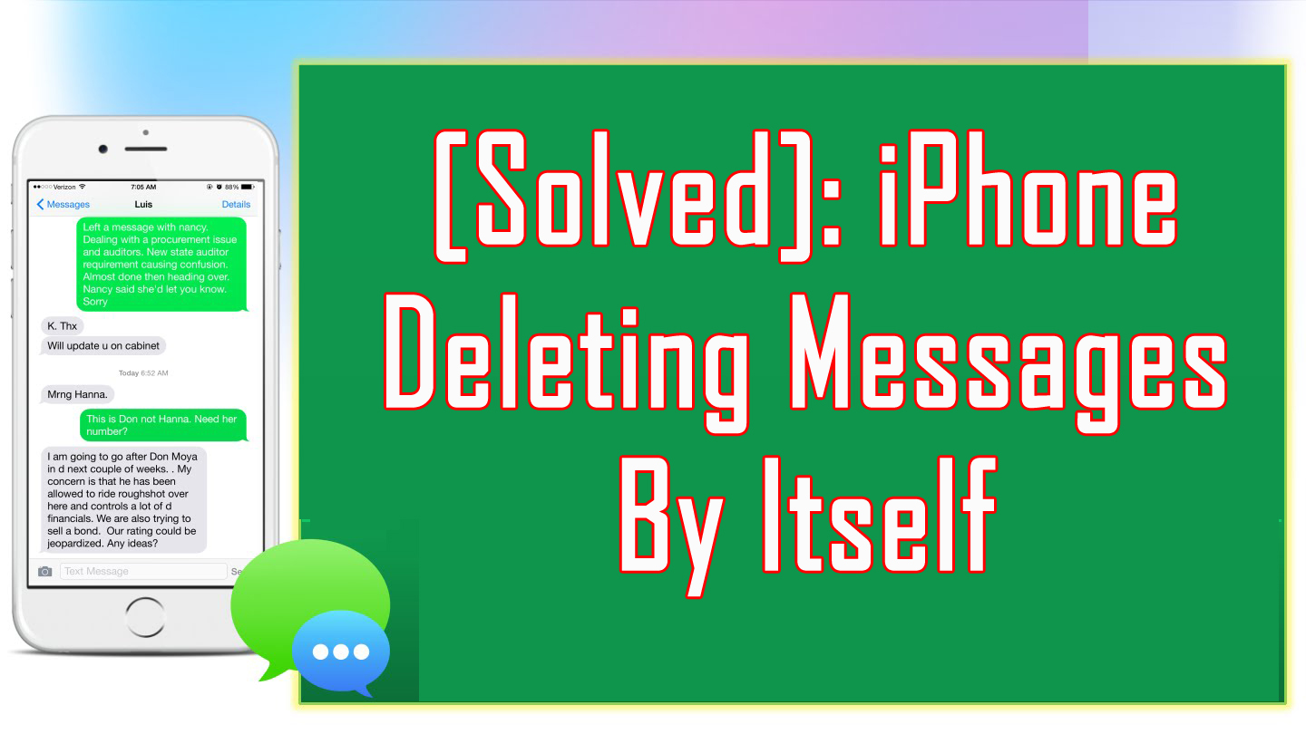 How To Fix Messages Deleted or Disappeared From iPhone
