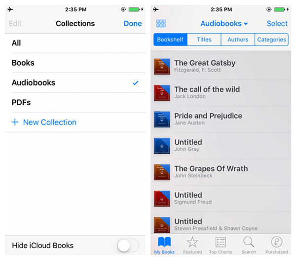 delete audiobooks from iPhone