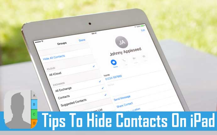 How To Hide Contacts On iPad