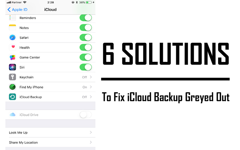 Solved iCloud Backup Greyed Out on iPhone