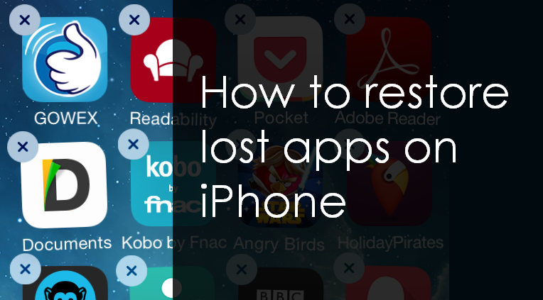 lost iphone app how to restore deleted apps on iphone on windows mac 1713
