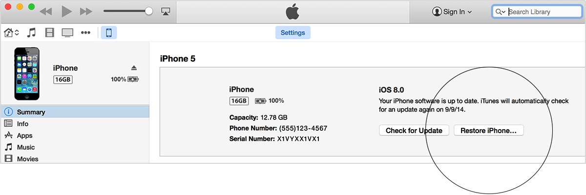 factory reset iphone 4 without computer how to use itunes to restore iphone or ipod to 8547